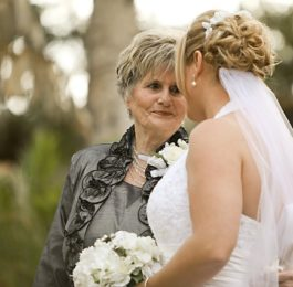 Bride with fashionable Mom